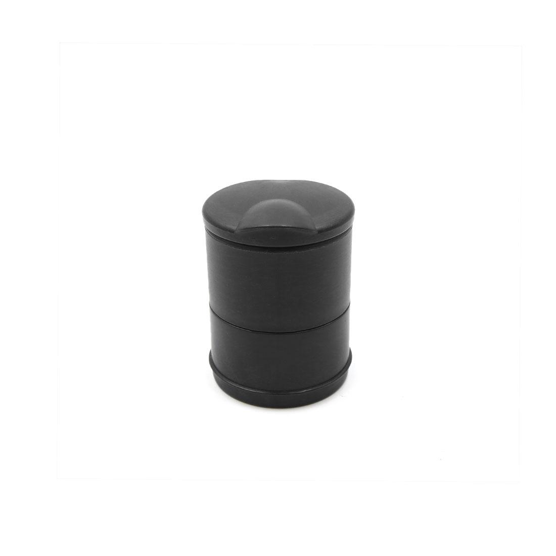 Black Plastic Cylinder Car Blue Light Cigarette Smoke Ashtray Holder Interior