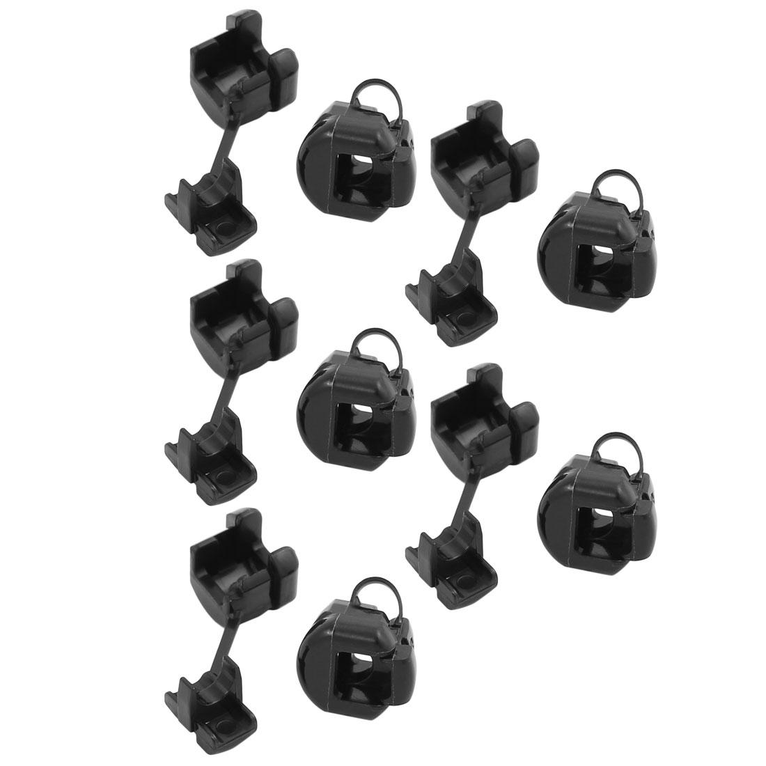 10Pcs 5N-4 Round Cable Wire Strain Relief Bush Grommet 11mm Diameter Black