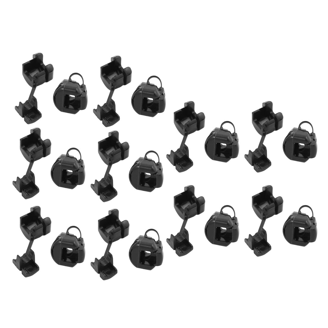 20Pcs 5N-4 Round Cable Wire Strain Relief Bush Grommet 11mm Diameter Black