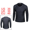 Men Crew Neck Raglan Sleeves Knitted Pullover Sweater Black S