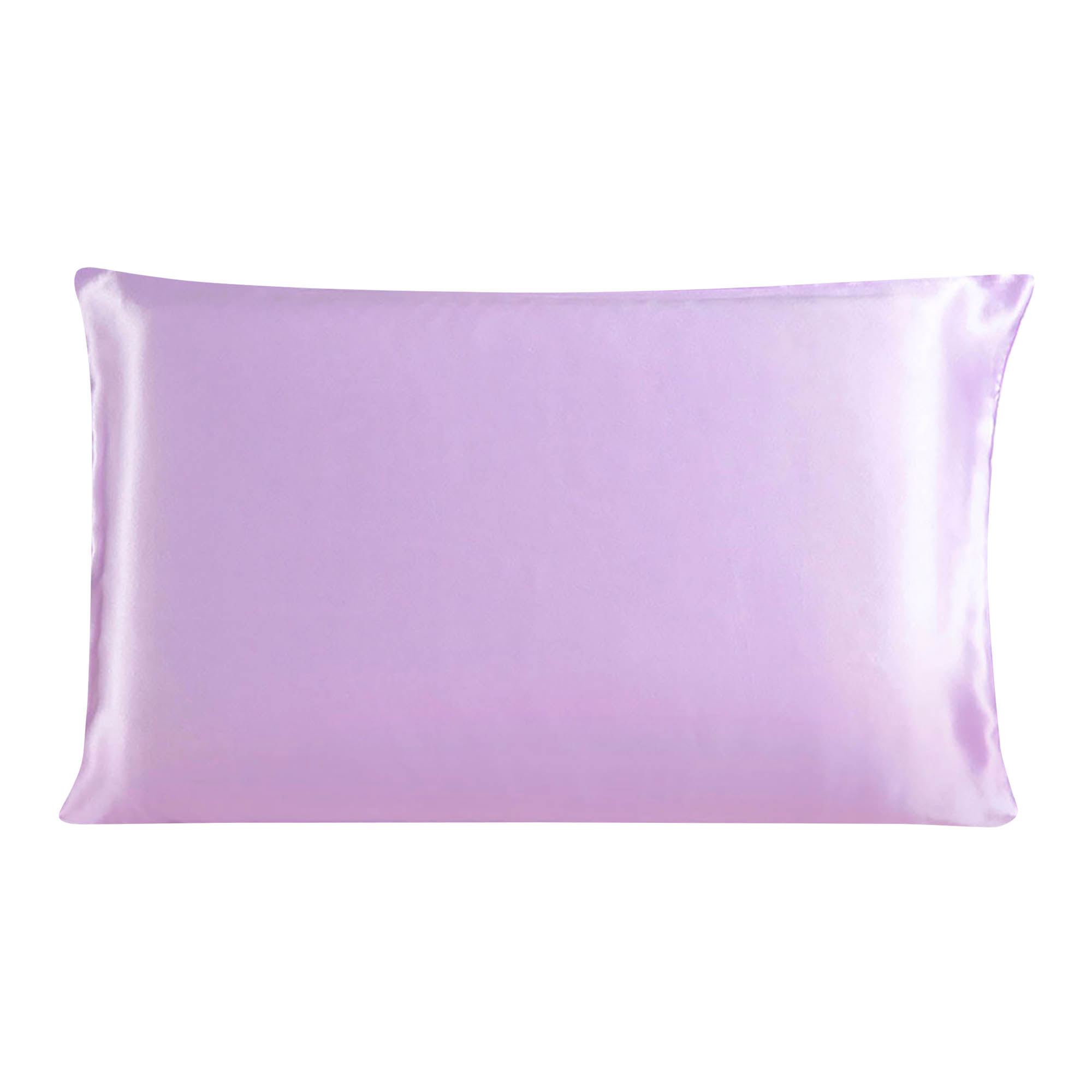 100% Mulberry Silk Fabric Pillow Case Cover Light Purple /Travel Size