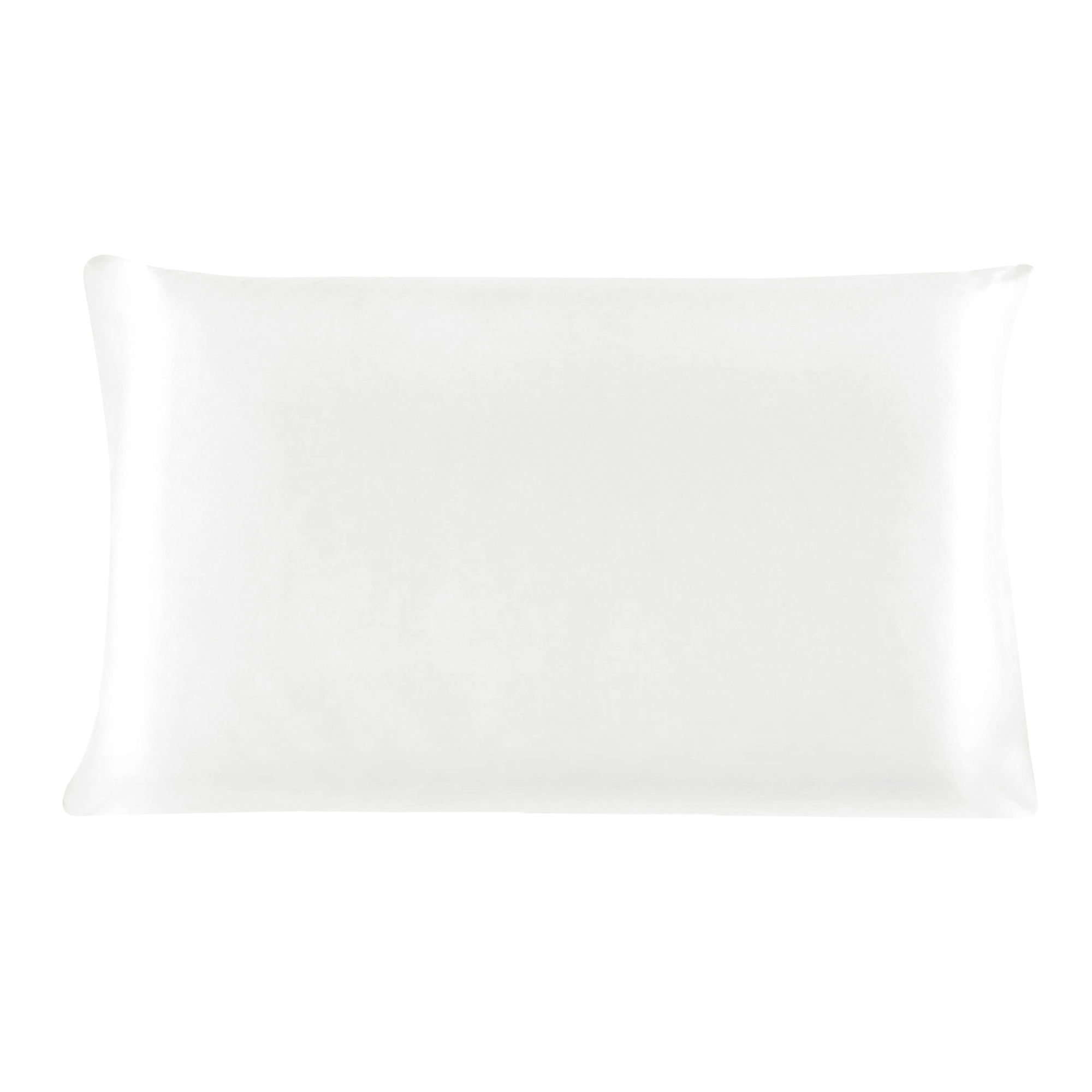 100% Mulberry Silk Fabric Cover Pillowcase Pearl White Standard Size