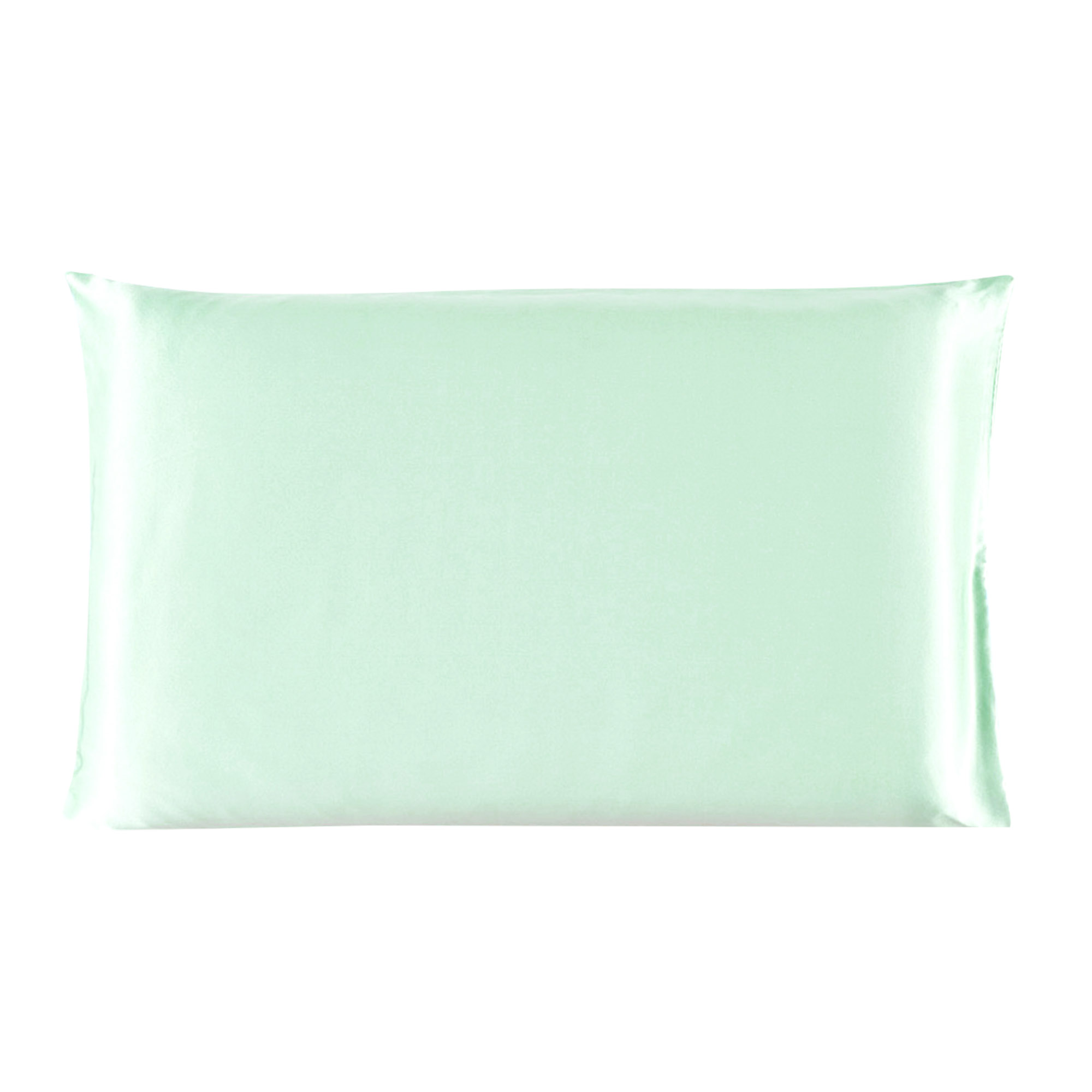 100% Mulberry Silk Fabric Pillow Case Pillowcase Light Green Standard Size