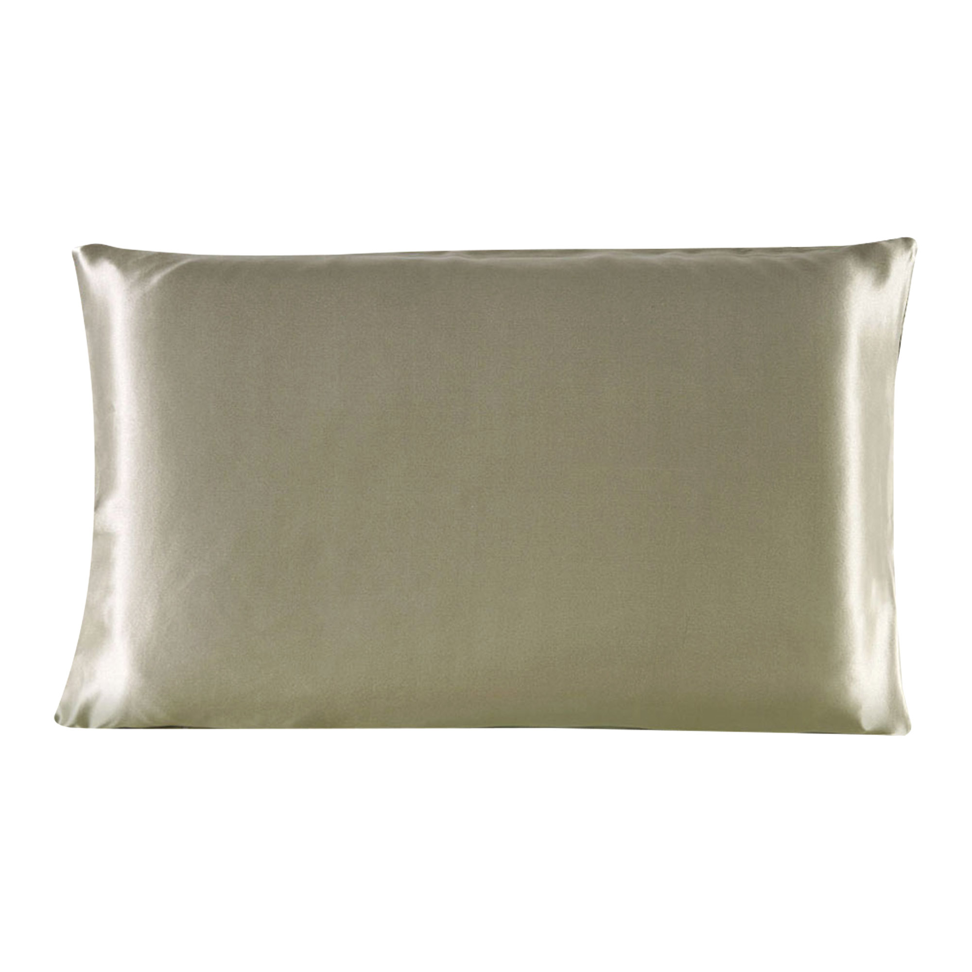 100% Mulberry Silk Fabric Pillow Case Pillowcase Light Coffee Standard Size