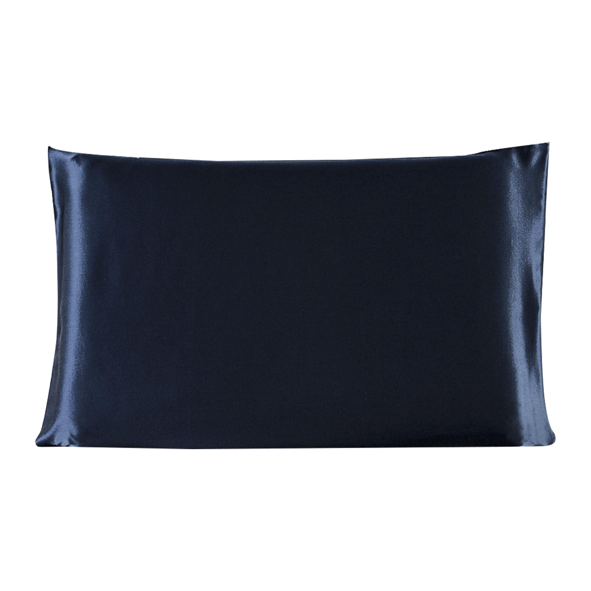 100% Mulberry Silk Fabric Pillow Case Pillowcase Royal Blue Standard Size