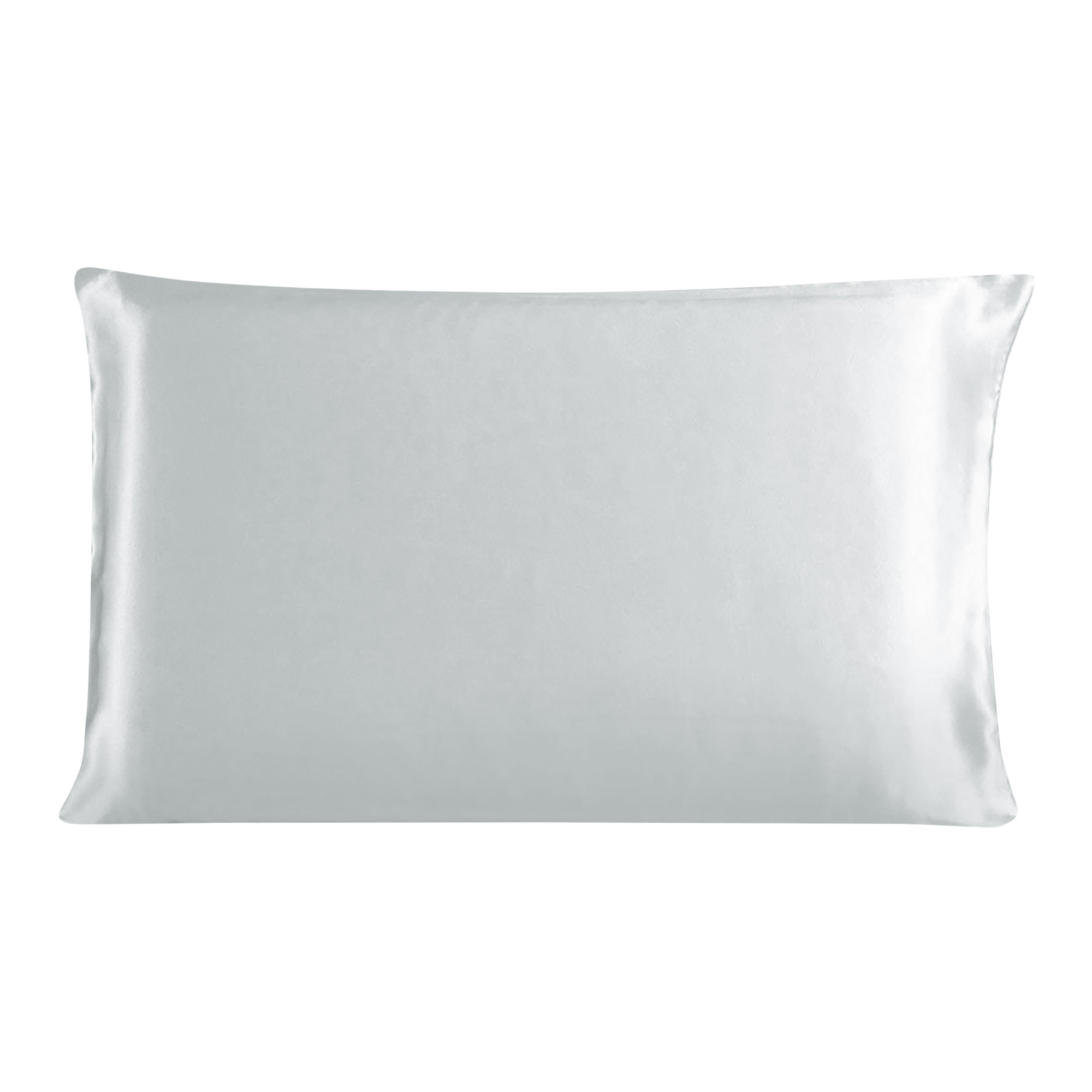 100% Mulberry Silk Fabric Pillow Case Cover Pillowcase Silver Gray King Size