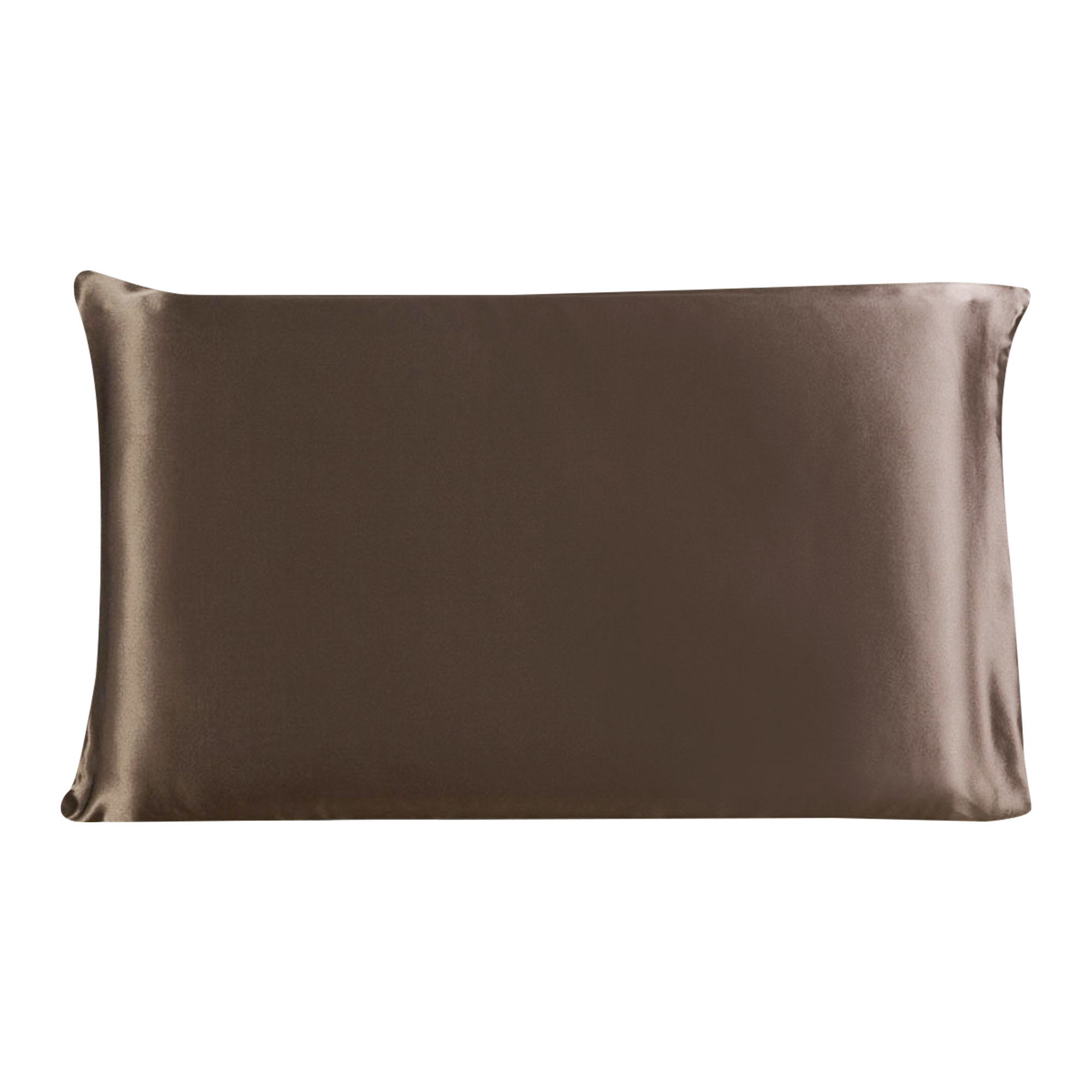 100% Mulberry Silk Fabric Pillow Case Cover Pillowcase Coffee Color King Size