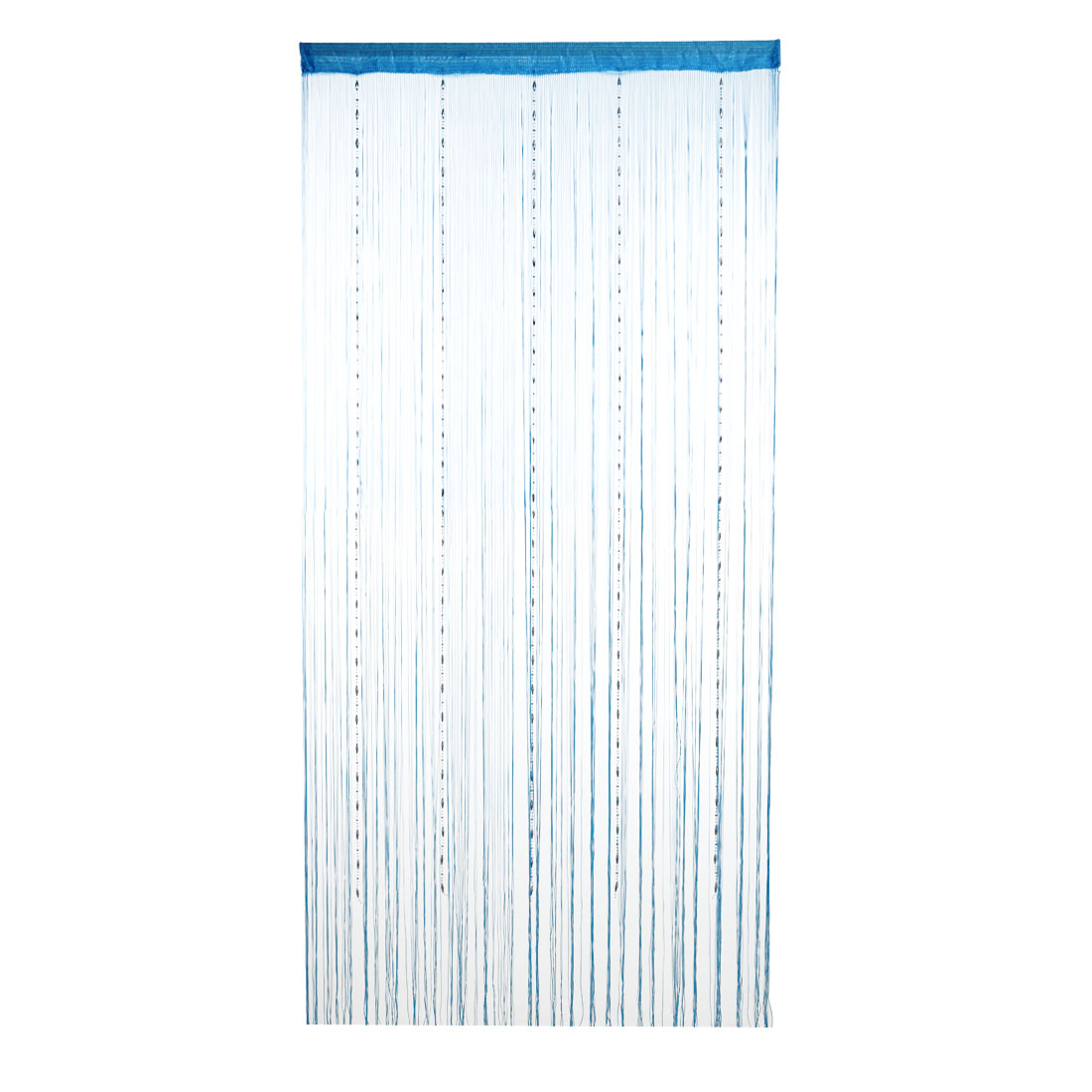 Dew Drop Beaded Chain String Curtains Voile Net Panels Screen Room Sky Blue