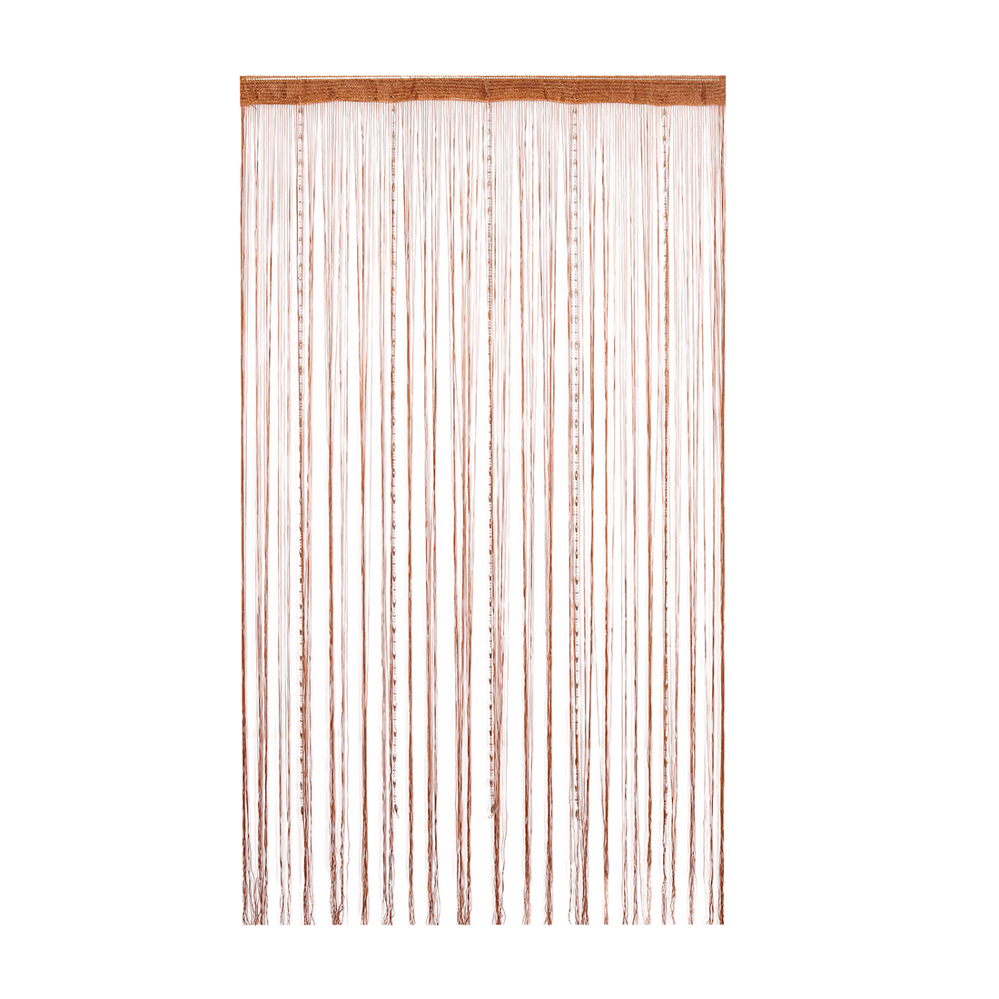 Dew Drop Beaded Chain String Divider 100x200cm Wall Door Curtain (Coffee Color)