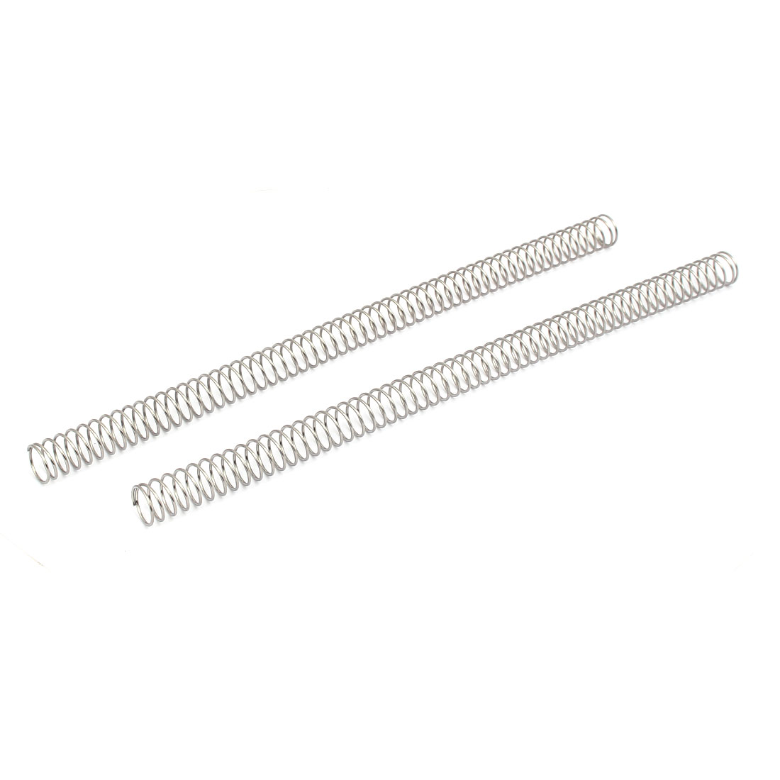 1.2mmx16mmx305mm 304 Stainless Steel Compression Springs Silver Tone 2pcs