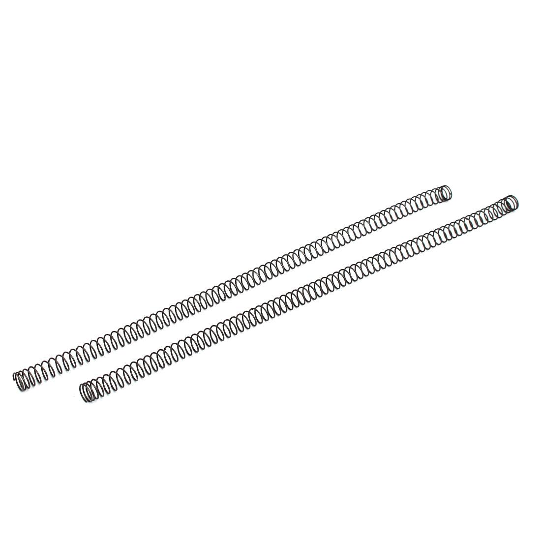 0.8mmx10mmx305mm Manganese Steel Compression Springs Black 2pcs
