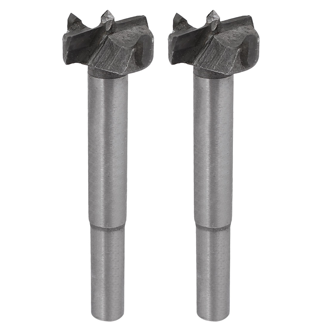 23mm Dia Carbide Tip Round Shank Wood Cutting Hole Saw Hinge Boring Bit 2pcs