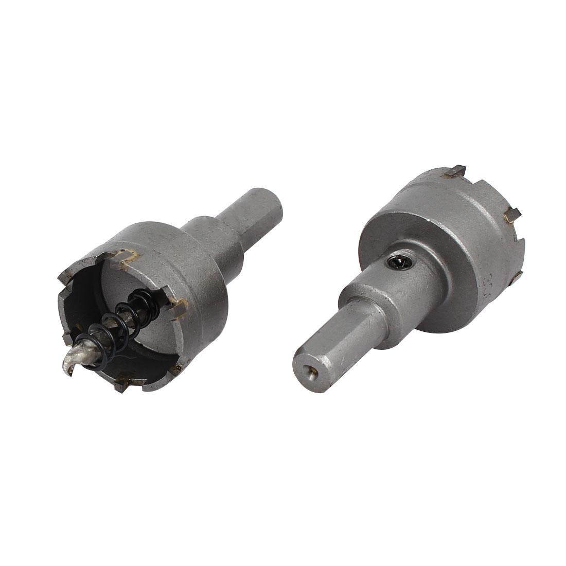 30mm Cutting Dia 5mm Twist Drilling Bit TCT Straight Shank Hole Saw 2pcs