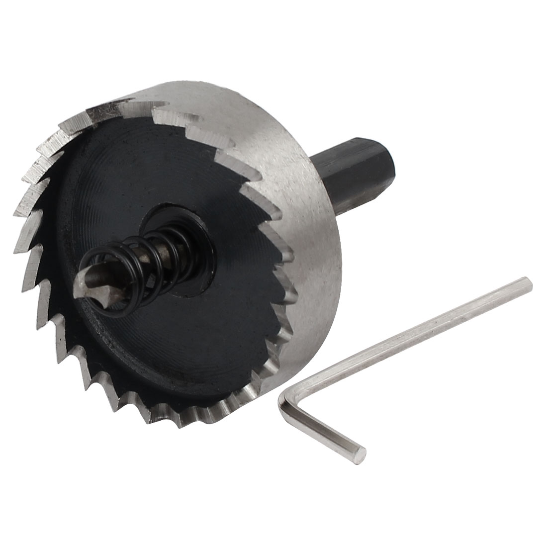 45mm Cutting Dia 69mm Long HSS Spring Loaded Twist Drill Bit Hole Saw Cutter