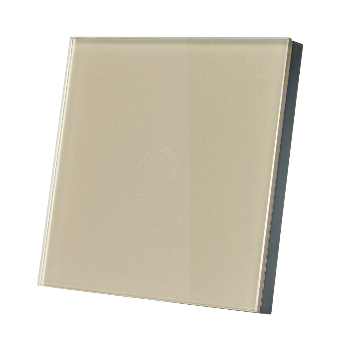 AC 110-240V 1 Way 1 Gang Glass Panel Wall Light Touch Switch Champagne Gold EU