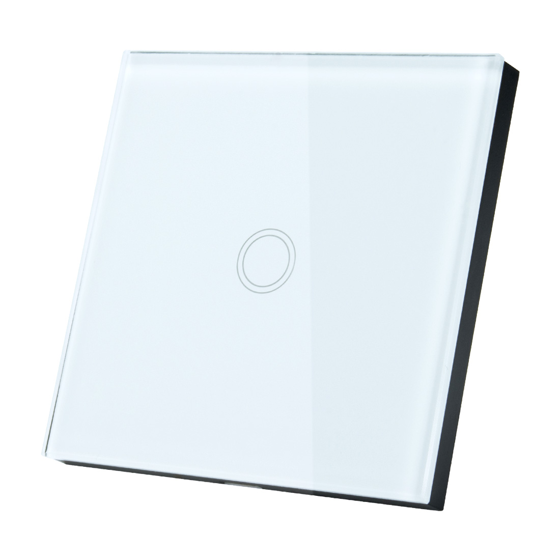 AC 110-240V 1 Way 1 Gang Panel Wall Light Touch Switch White EU w Remote Control