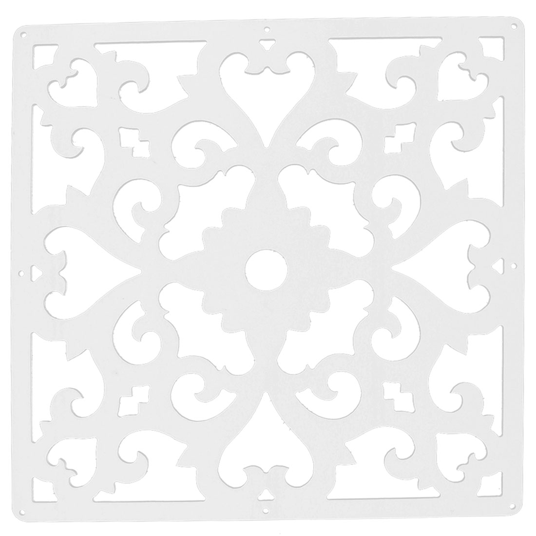 Living Room Flower Pattern Hollow Out Window Sticker Panel Hanging Screen White