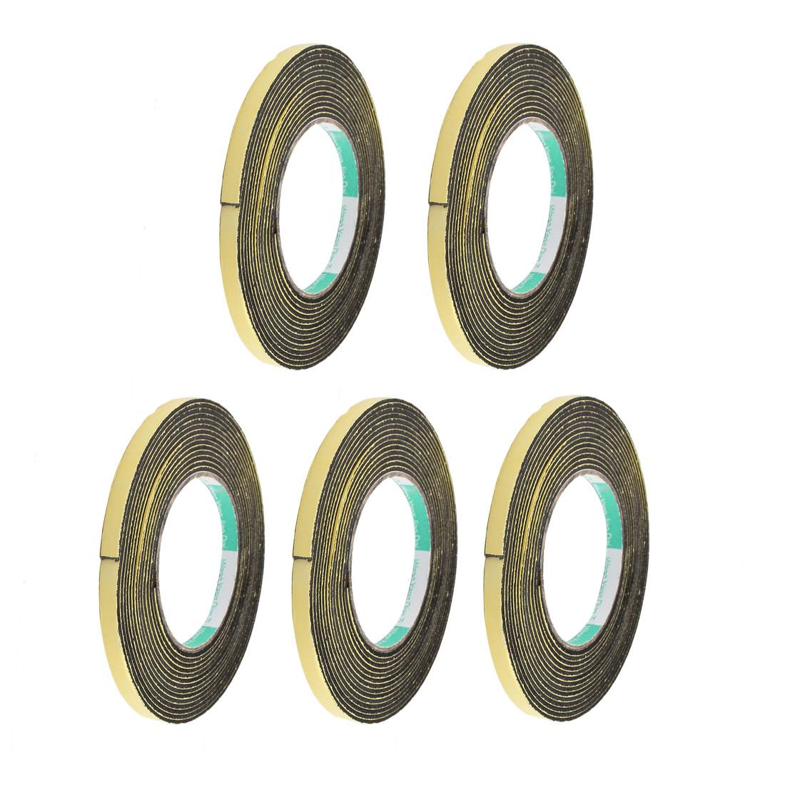 5Pcs 8mm Width 2mm Thick Single Sided Sealing Shockproof Sponge Tape 5m Length