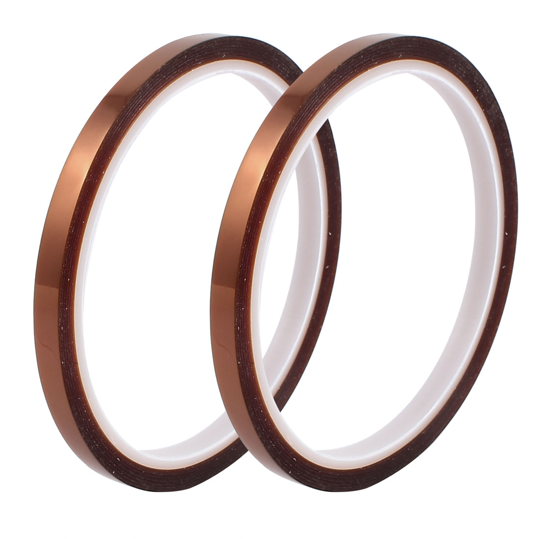 2 Pcs 6mm Width 30M Length High Temp Heat Resistant Polyimide Tape Brown