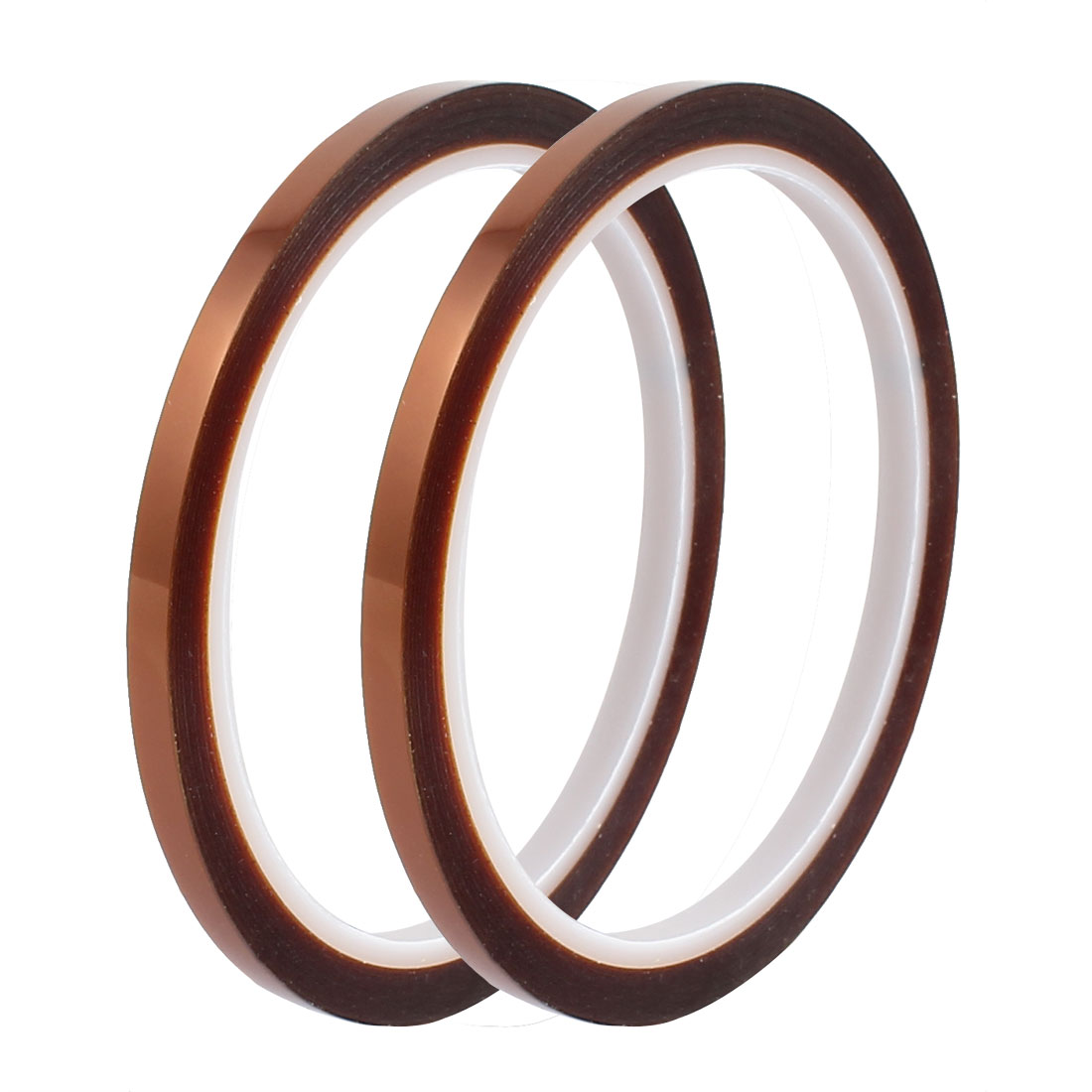 2 Pcs 5mm Width 33M Length High Temp Heat Resistant Polyimide Tape Brown