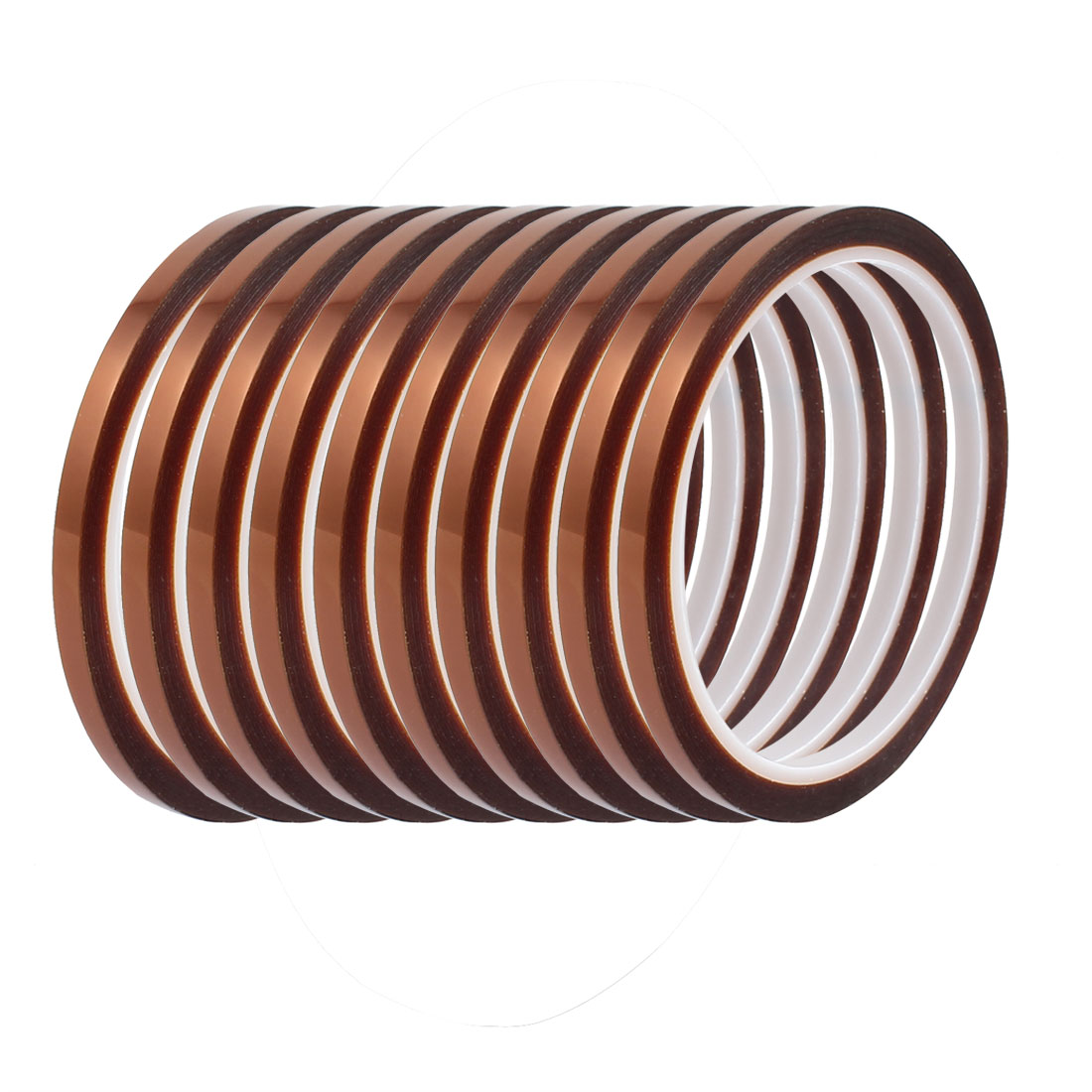 10 Pcs 5mm Width 3Length High Temp Heat Resistant Polyimide Tape Brown