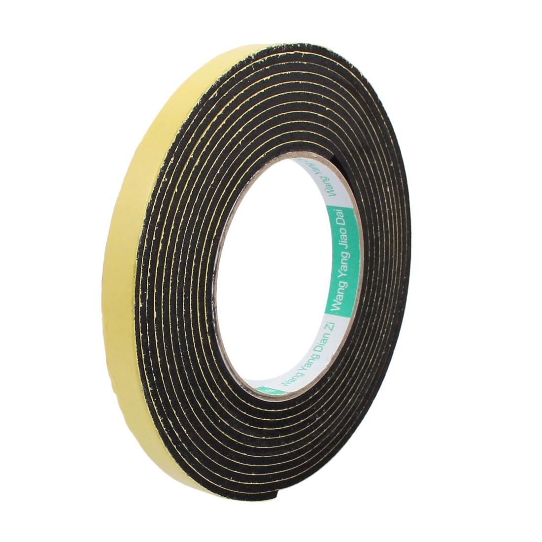 10mm Width 3mm Thick Single Sided Sealing Shockproof Sponge Tape 4m Length