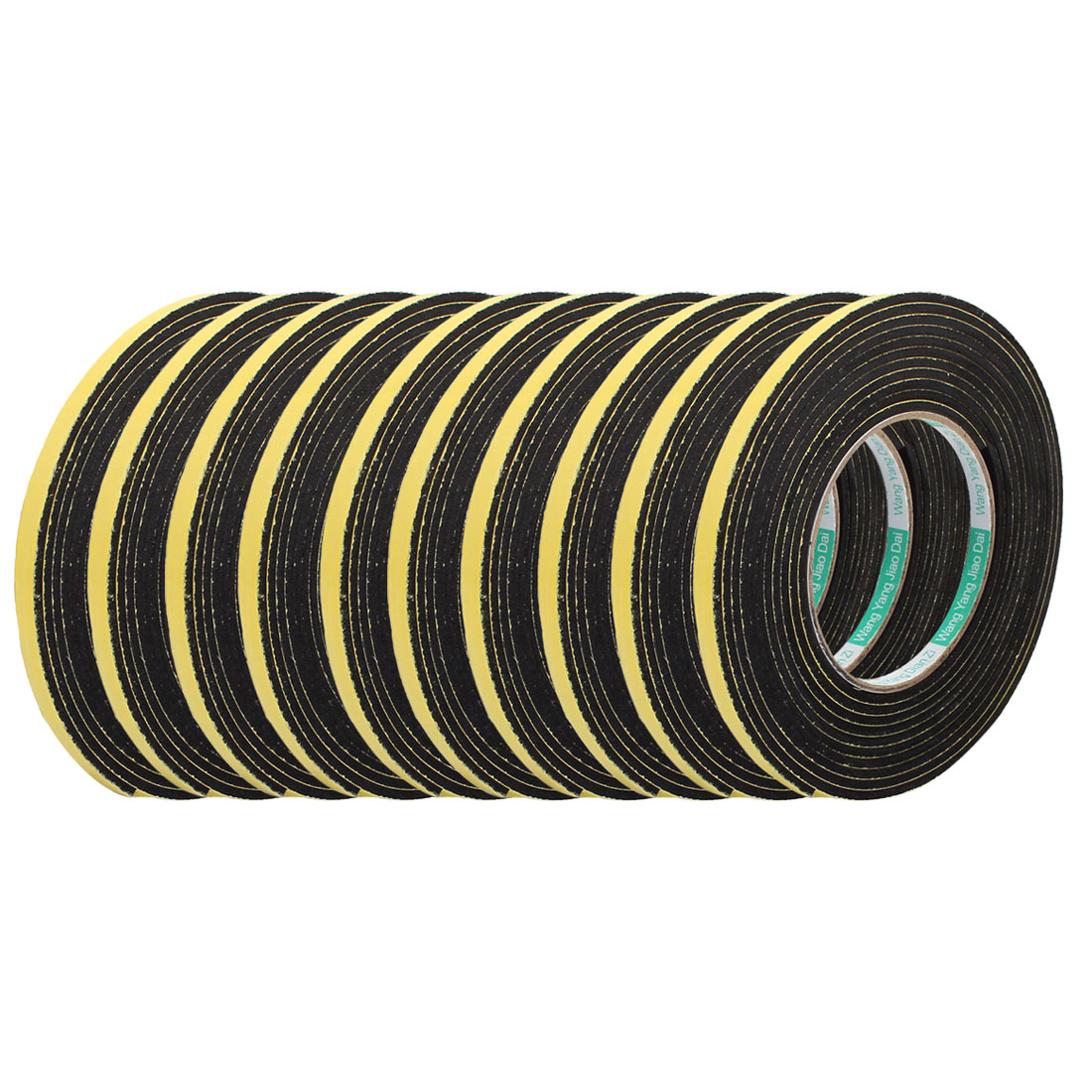 10Pcs 8mm Width 3mm Thick Single Sided Sealing Shockproof Sponge Tape 4m Length