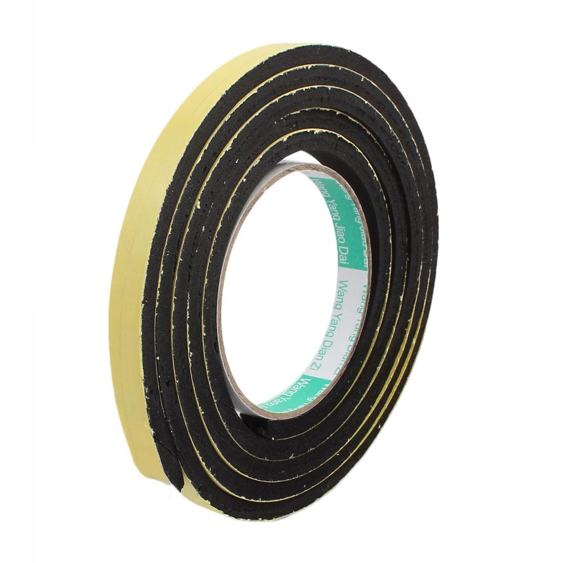 1.2cm Width 2m Length 6mm Thick Single Sided Sealing Shockproof Sponge Tape