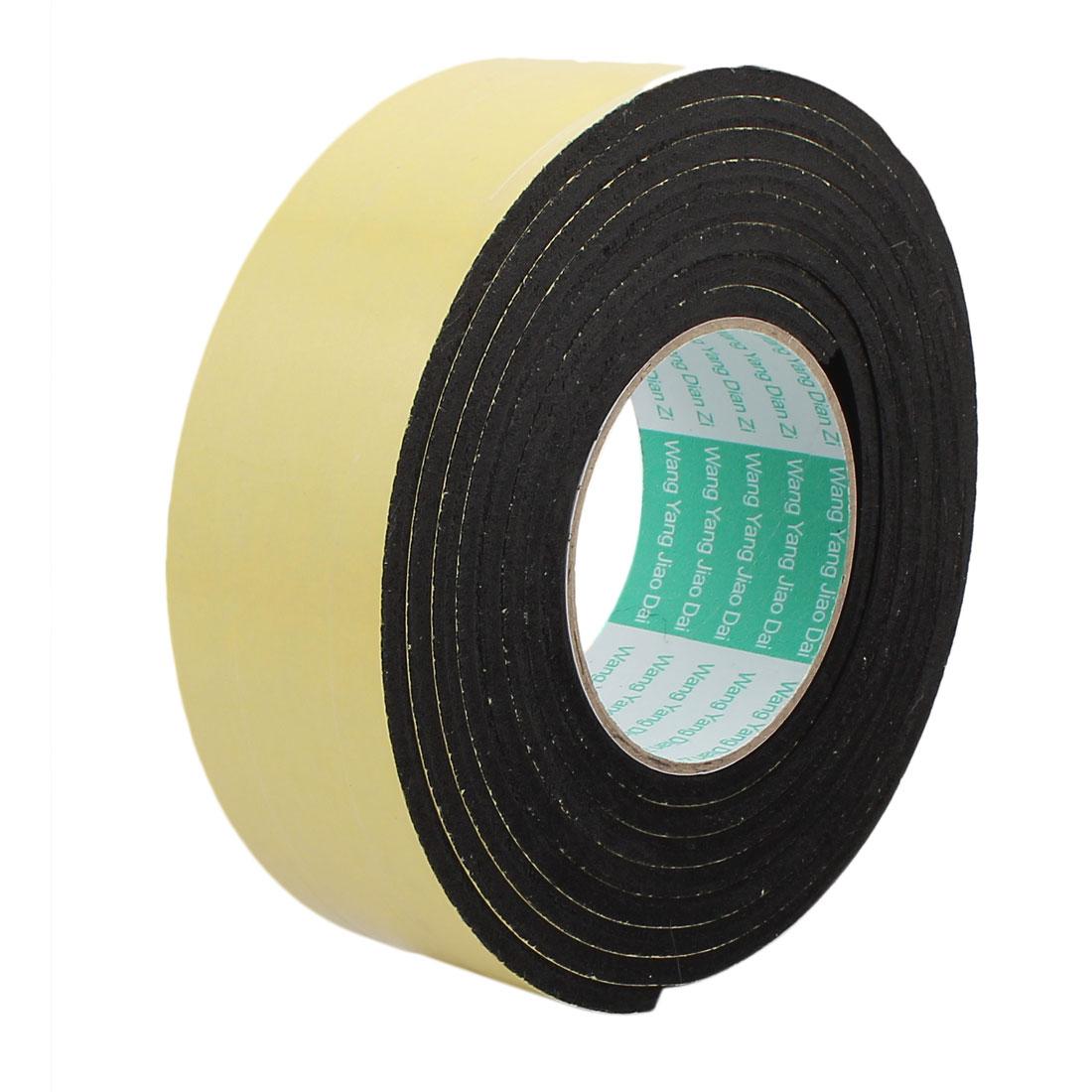 3Meter 50mm x 5mm Single-side Adhesive Shockproof Sponge Foam Tape Yellow Black