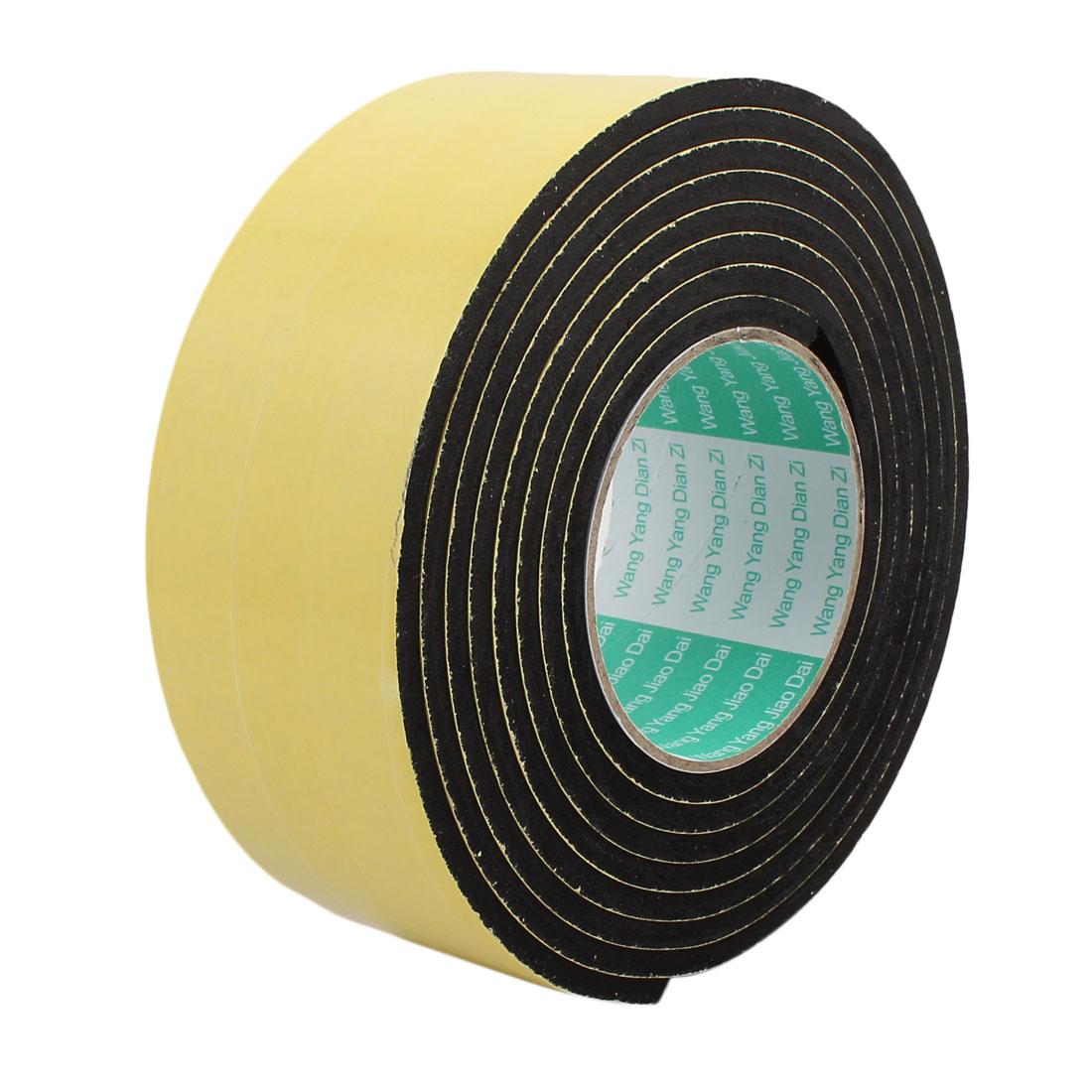 3Meter 60mm x 5mm Single-side Adhesive Shockproof Sponge Foam Tape Yellow Black