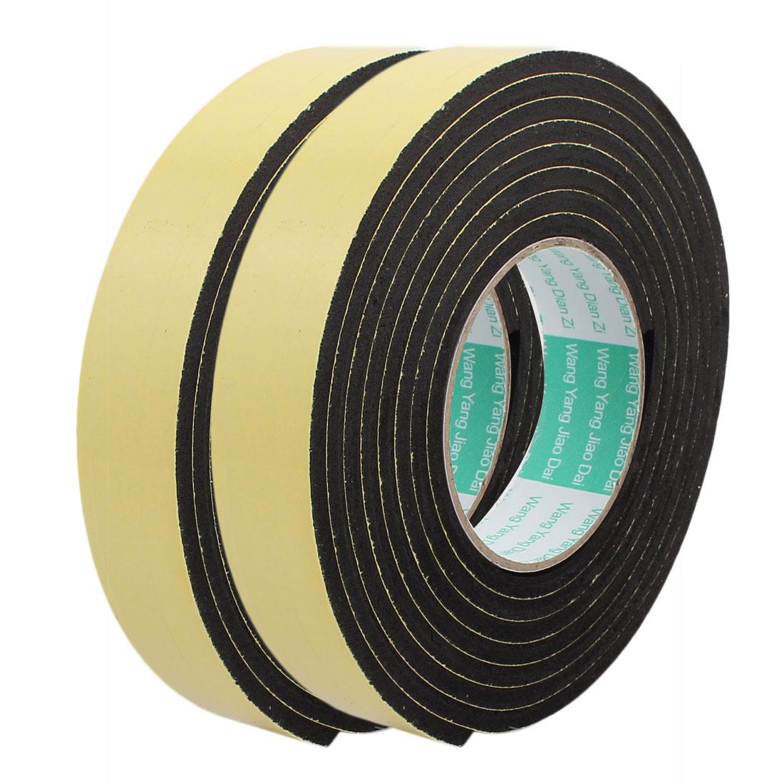 2pcs 3Meter 30mm x 5mm Single-side Adhesive Shockproof Sponge Foam Tape Yellow