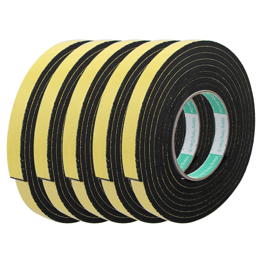 5pcs 3Meter 15mm x 5mm Single-side Adhesive Shockproof Sponge Foam Tape Yellow