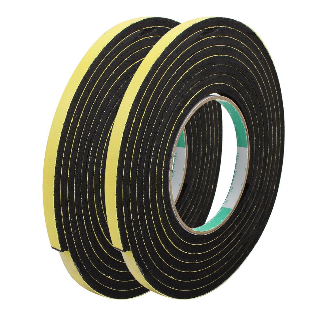 2pcs 3Meter 8mm x 5mm Single-side Adhesive Shockproof Sponge Foam Tape Yellow