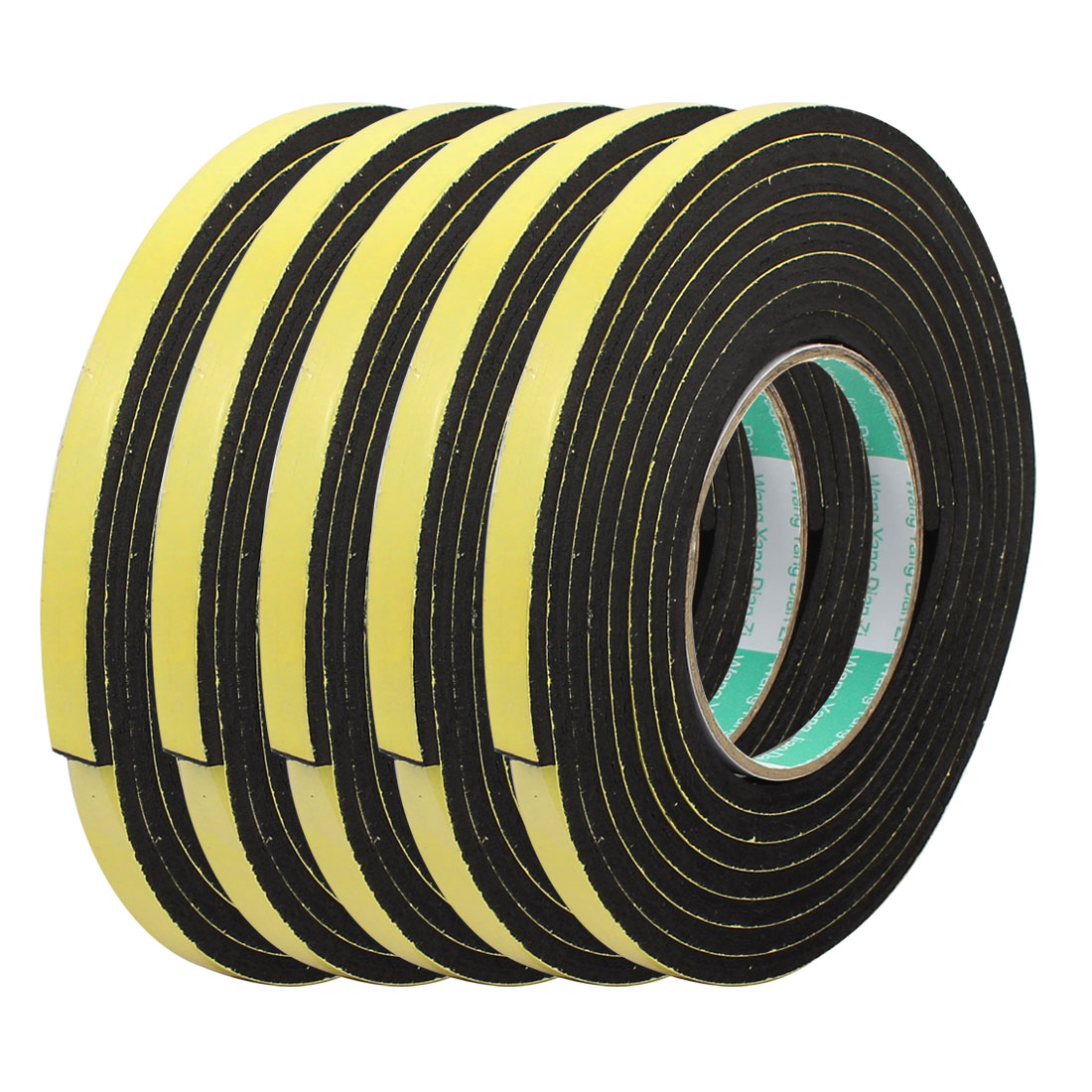 5pcs 3Meter 10mm x 5mm Single-side Adhesive Shockproof Sponge Foam Tape Yellow