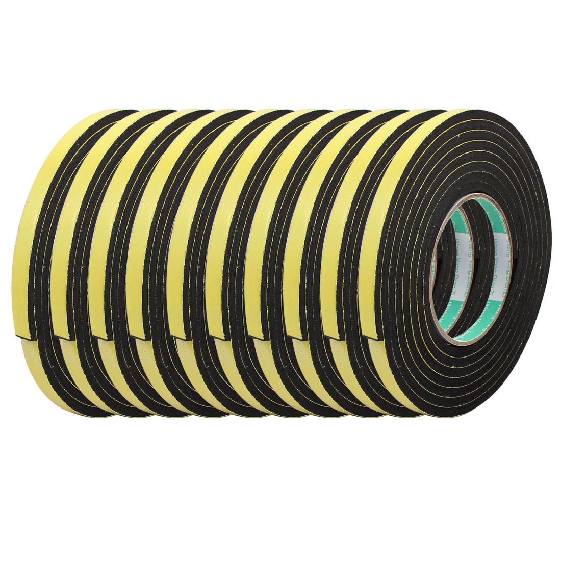 10pcs 3Meter 10mm x 5mm Single-side Adhesive Shockproof Sponge Foam Tape Yellow