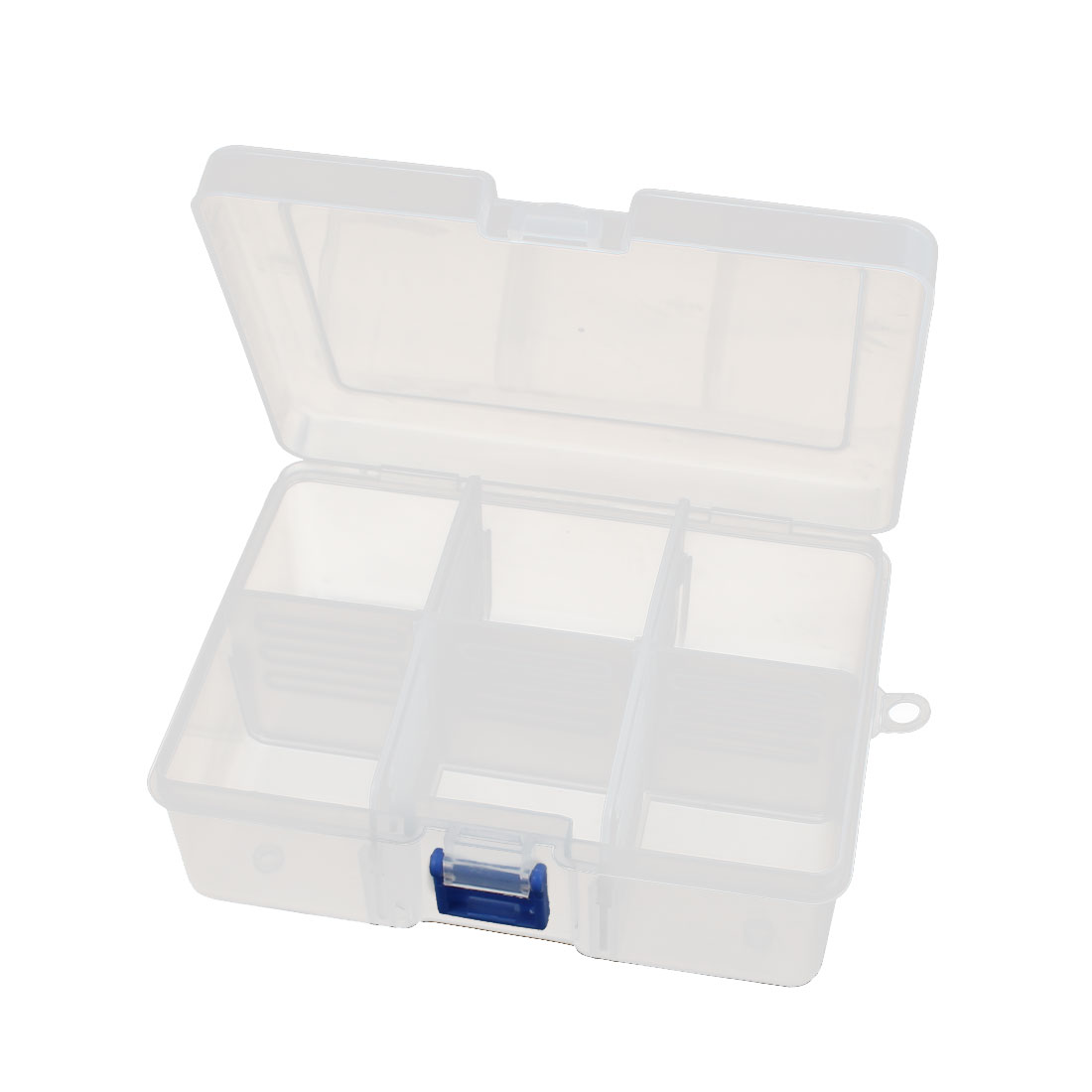 Clear White 6 Slots Waterproof Components Storage Box Case 167mm x 126mm x 62mm