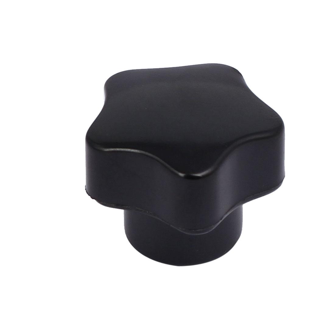 M5 Female Thread Star Head Bakelite Knobs Handle Machine Tool Black
