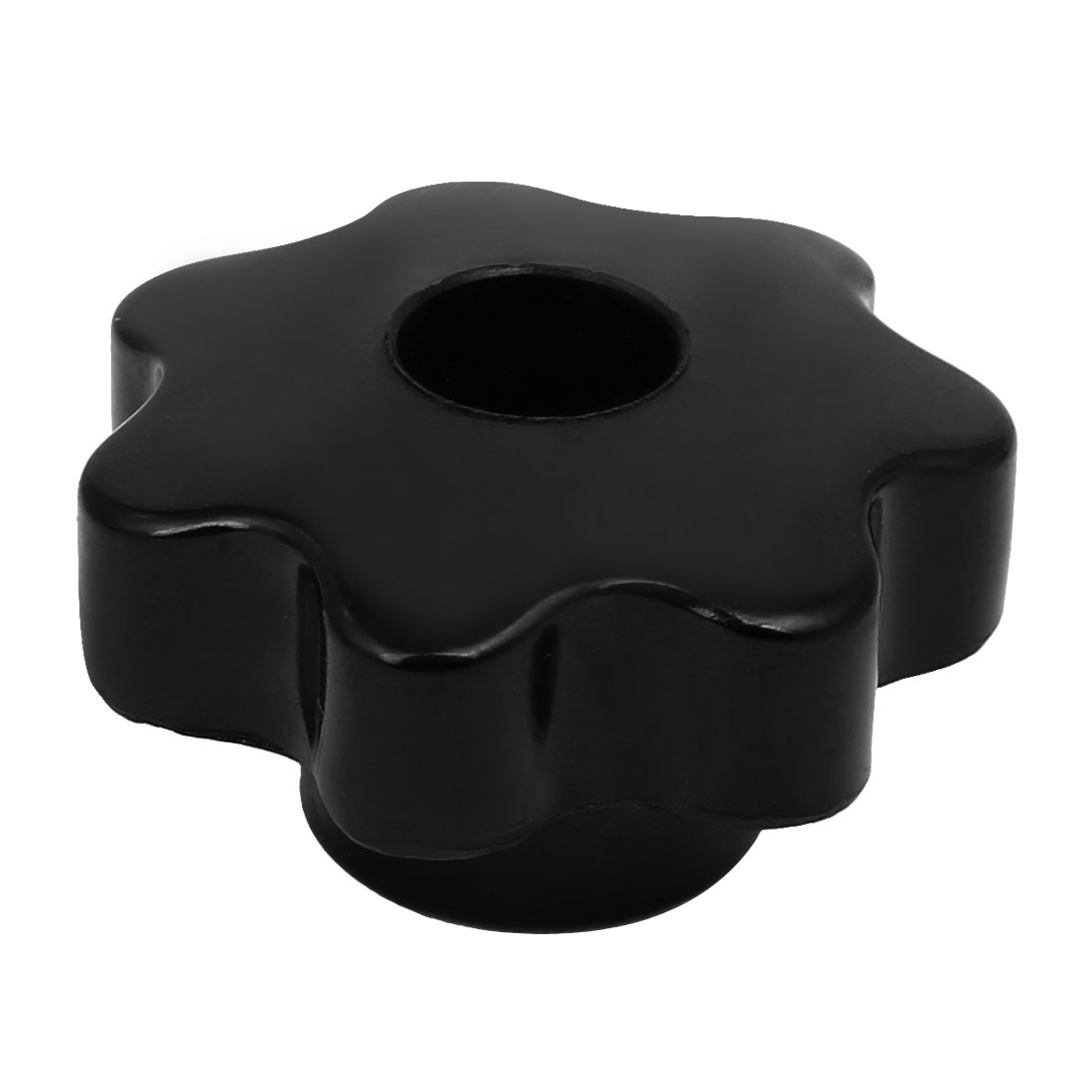 M12x50mm Plastic Seven Pointed Star Head Through Hole Machinery Clamping Knob