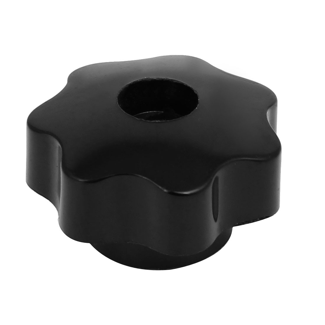 M6x40mm Plastic Seven Pointed Star Head Through Hole Machinery Clamping Knob