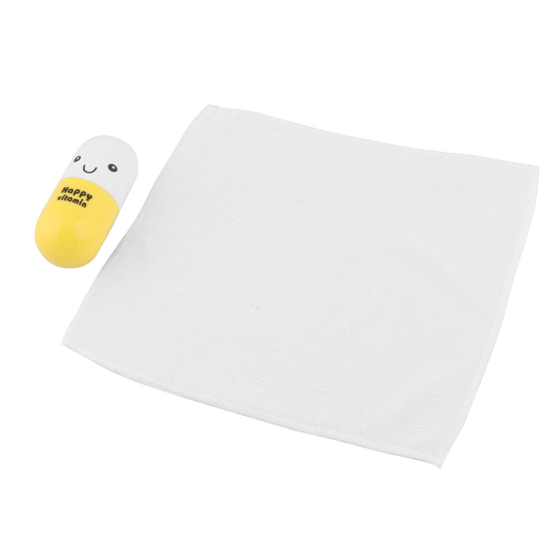 Travel Swimming Cotton Blends Shaped Box Facecloth Towel White Yellow