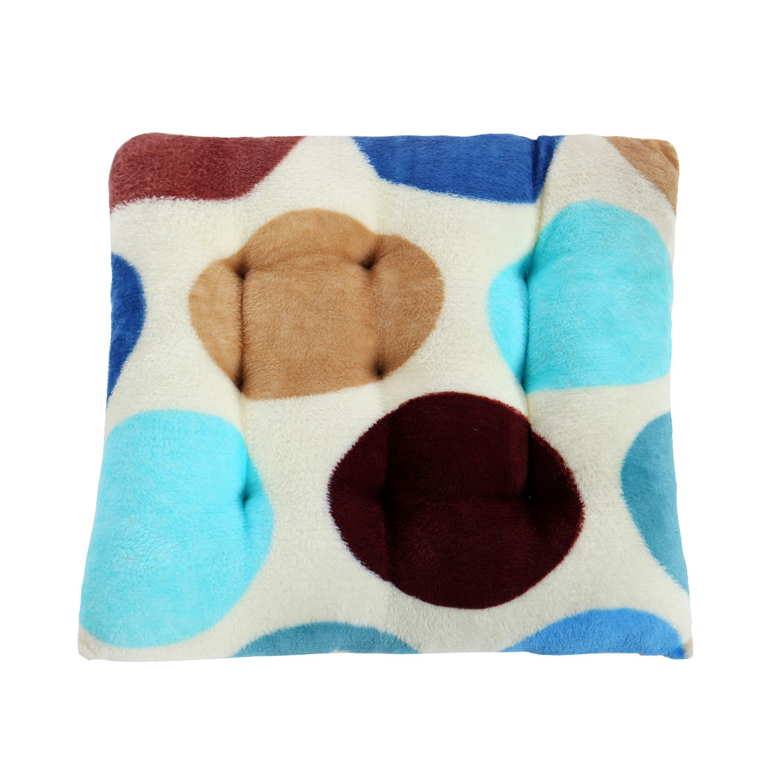 Home Office Flannel Dot Pattern Back Support Seat Chair Pad Cushion 40cm x 40cm
