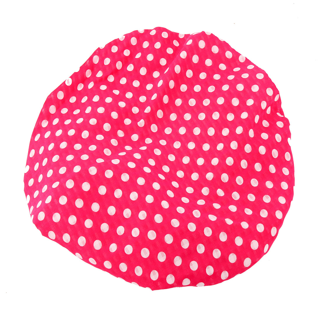 Home Chiffon Dot Pattern Hair Protector Water Resistant Elastic Spa Shower Cap