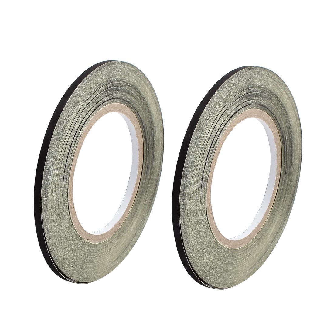 2pcs 5mm x 30M Black Insulating Acetate Cloth Adhesive Tape PC Electric Repair