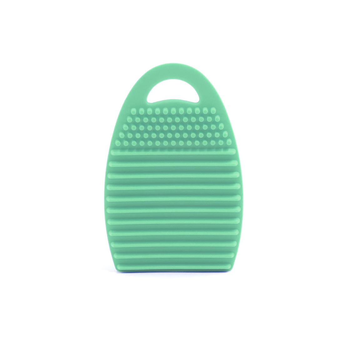 Silicone Makeup Brush Cleaner Pad Washing Scrubber Finger Cap Cleaning Mat Green