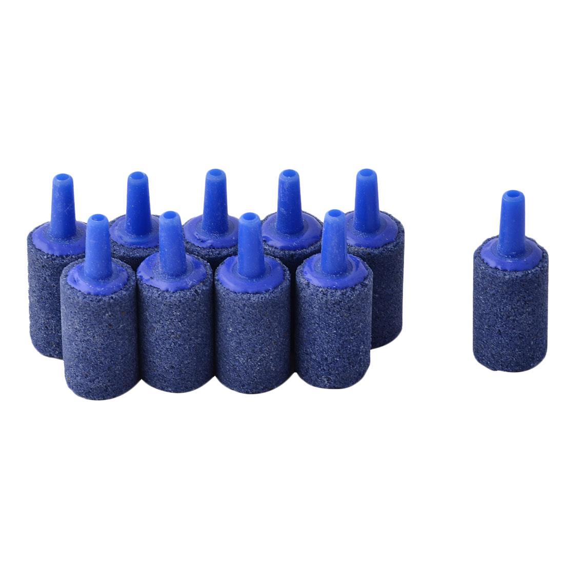 Aquarium Fish Tank Mineral Plastic Bubble Diffusers Maker Air Stone Blue 10pcs