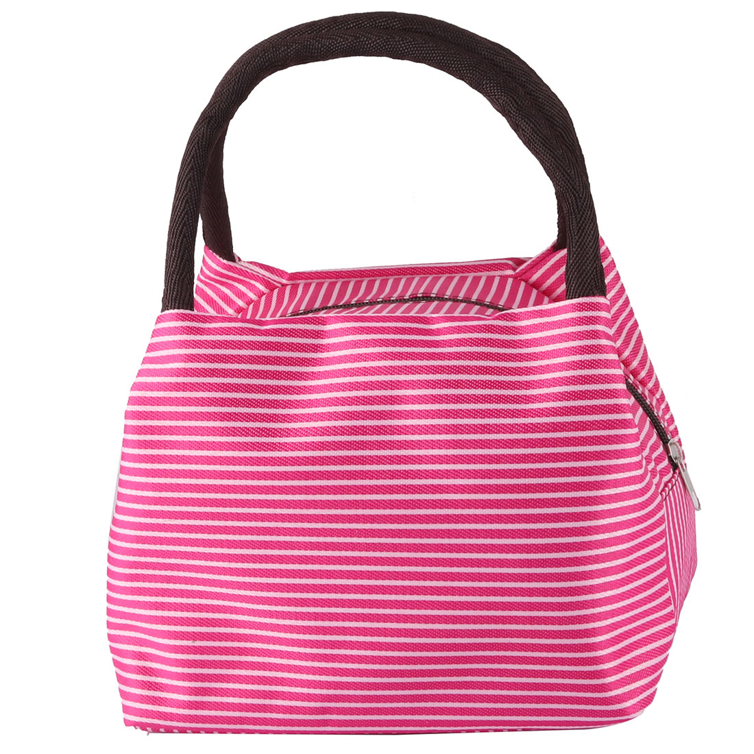 Outdoor Linen Cotton Stripe Pattern Lunch Holder Storage Cooler Pouch Tote Bag