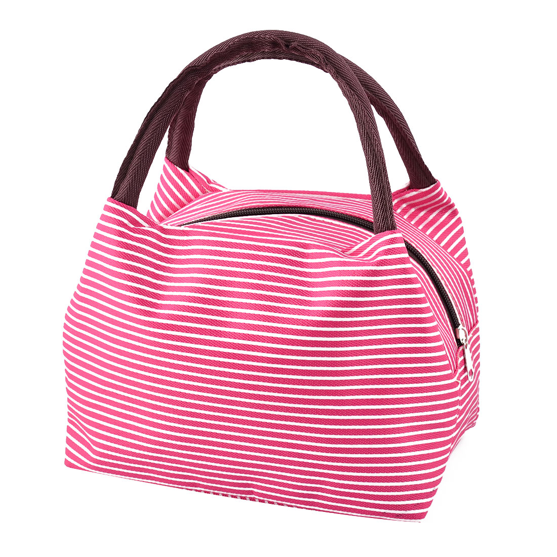 Outdoor Travel Linen Cotton Stripe Pattern Lunch Holder Cooler Pouch Tote Bag