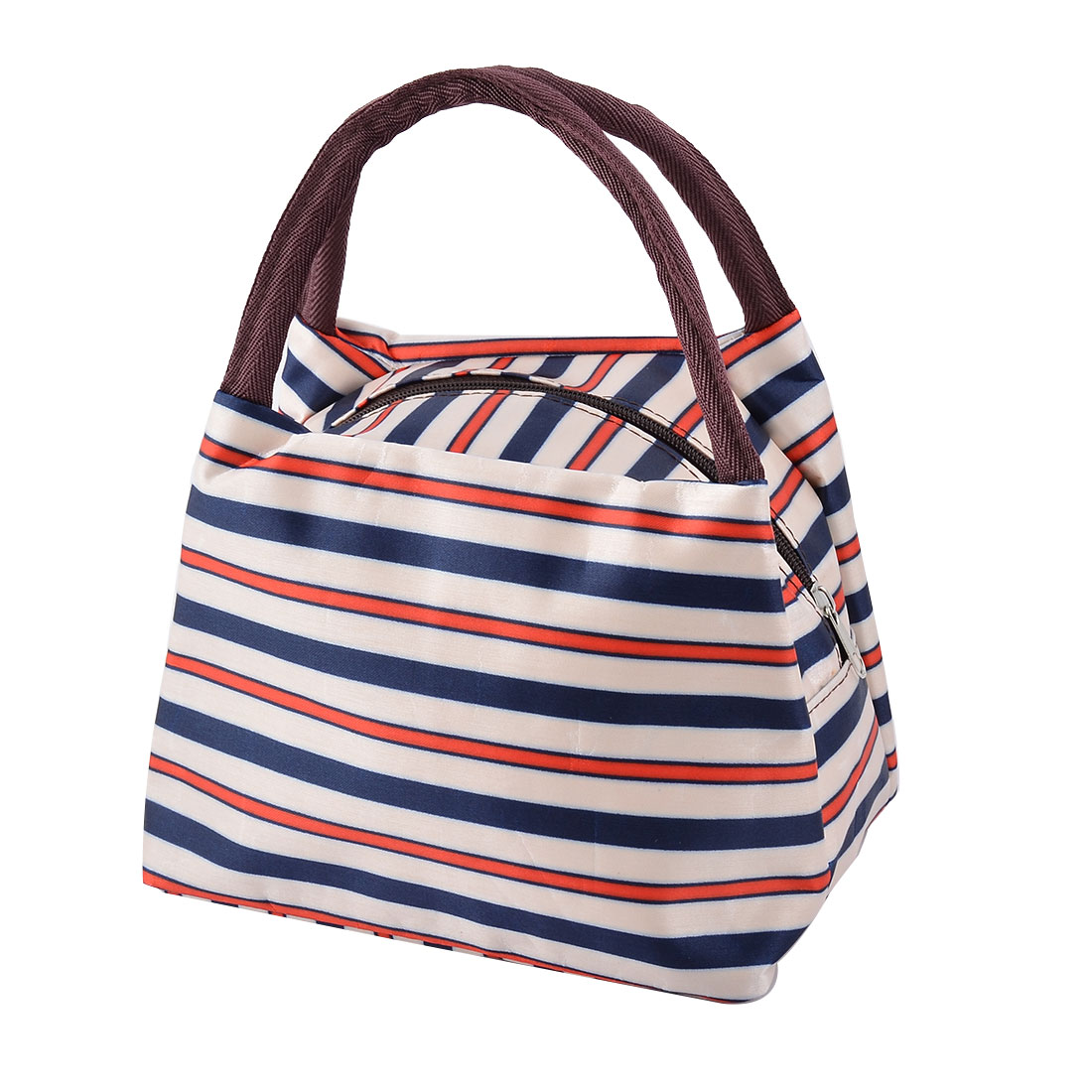 Picnic Travel Linen Cotton Stripe Pattern Dinner Holder Cooler Pouch Tote Bag