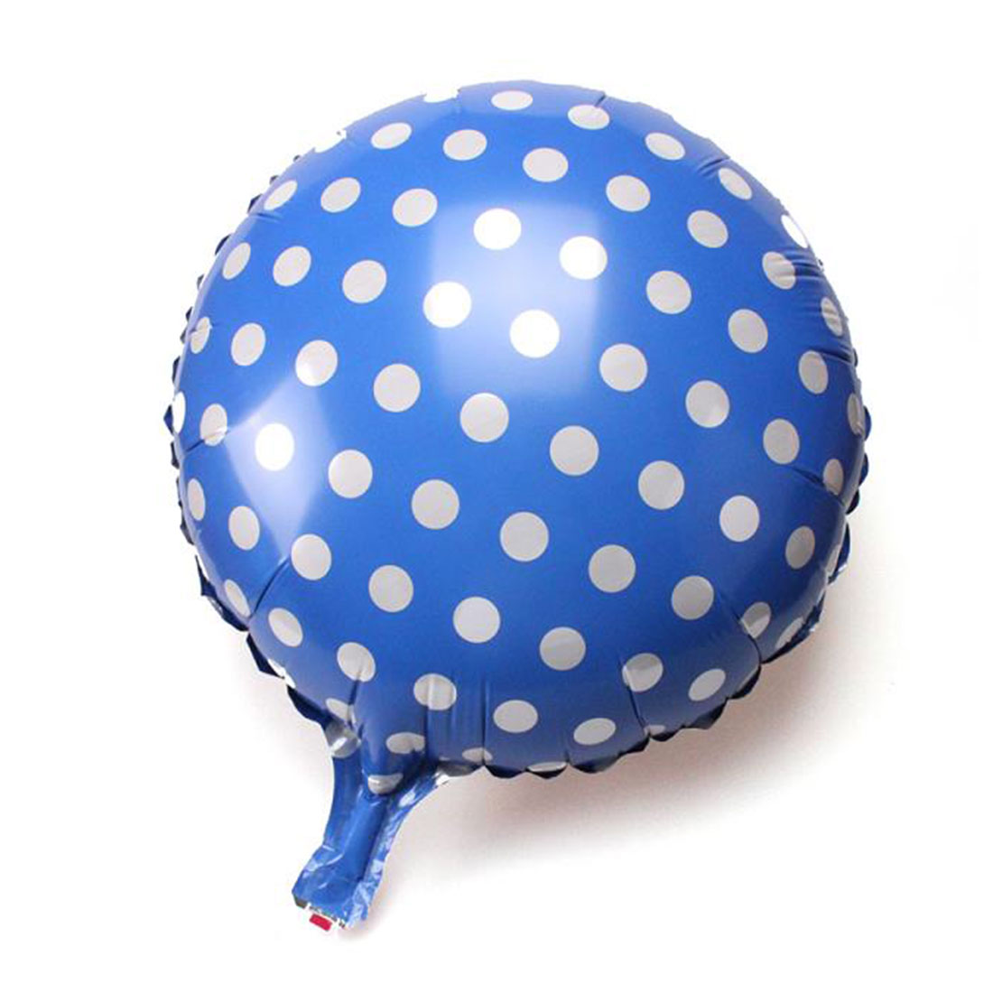 Foil Dot Printed Round Shaped Balloon Wedding Birthday Party Celebration Decor Blue 18 Inch