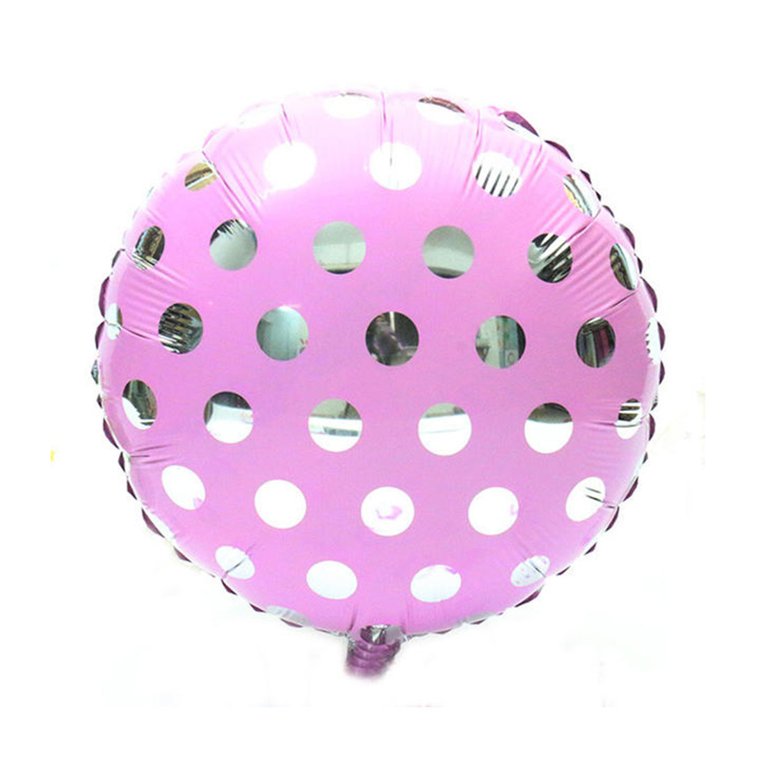 Foil Dot Printed Round Shaped Balloon Wedding Birthday Party Celebration Decor Light Purple 18 Inch